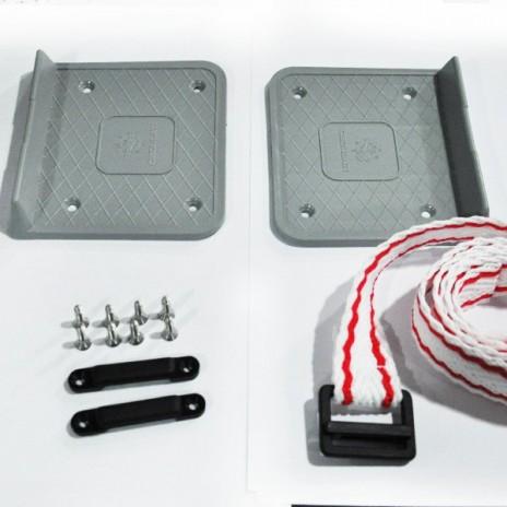 Podwójna płyta mocująca akumulator lub zbiornik